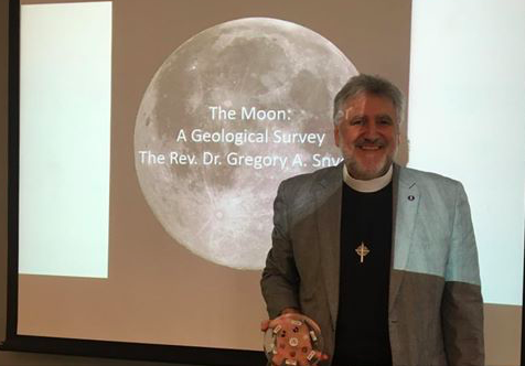 The Good Reverend Doctor Snyder teaching about Lunar Geology