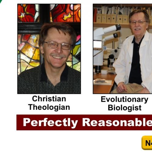 "Dr. Lamoureux ""wearing the two hats"" of Christian Theologian and Scientist"